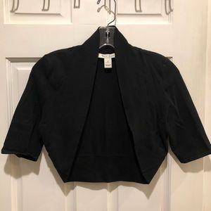 White House Black Market Black shrug sweater (S)